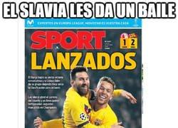 Enlace a Sport disfraza el triunfo del Barcelona