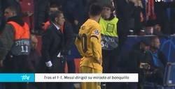 Enlace a Polémica: la desafiante mirada de Messi a Valverde tras el empate del Slavia de Praga