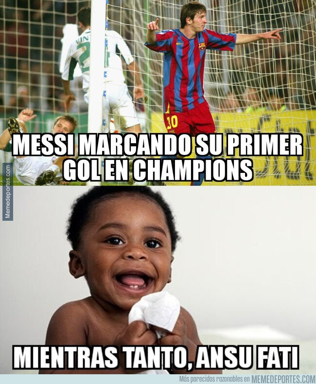 1089245 - Ansu Fati tenía 1 año cuando Messi empezó a anotar por Europa