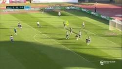 Enlace a En la liga croata ocurrió un extraño efecto óptico que sacó el balón del arco en un 'gol'. Brujería