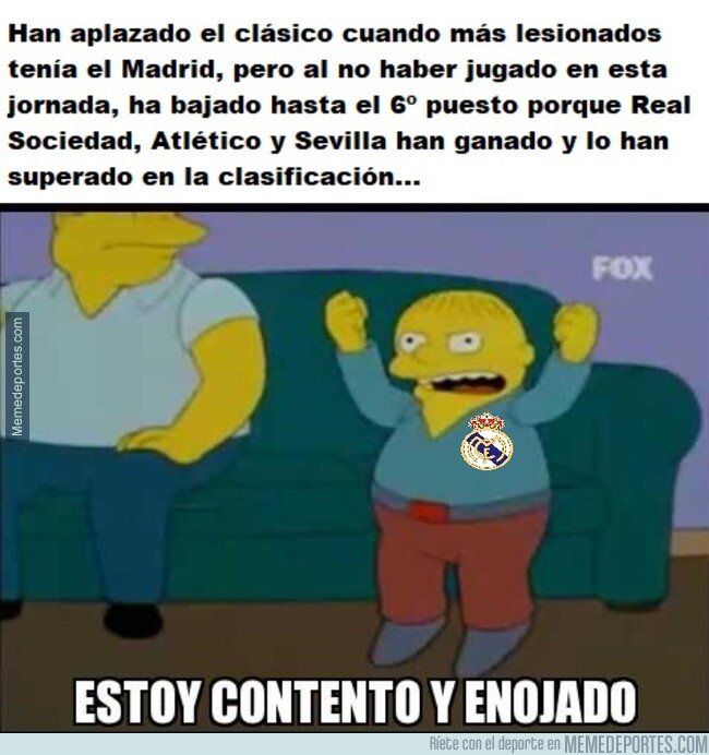 1089439 - No todo iba a ser positivo para el Madrid el ser aplazado el Clásico...