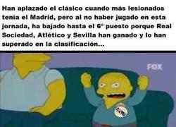 Enlace a No todo iba a ser positivo para el Madrid el ser aplazado el Clásico...