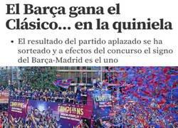 Enlace a El Barça se llevó el sorteo de la Quiniela
