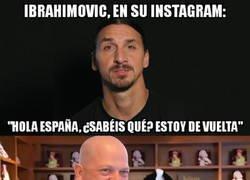Enlace a Zlatan deja un enigmático mensaje en sus redes sociales, ¿volverá a LaLiga?