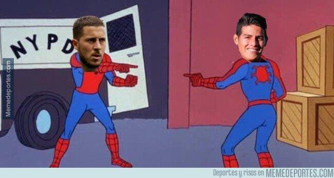 1089627 - James al igual que Hazard se ausenta de un partido con el Real Madrid al tener un hijo