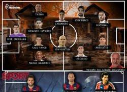 Enlace a Las plantillas del Barça y Madrid en versión Halloween