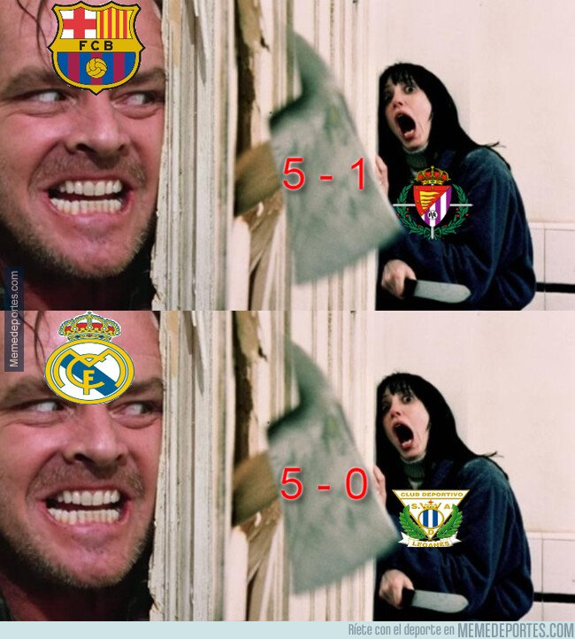 1089730 - El Barça y el Madrid fueron la pesadilla de la víspera de Halloween de sus víctimas...