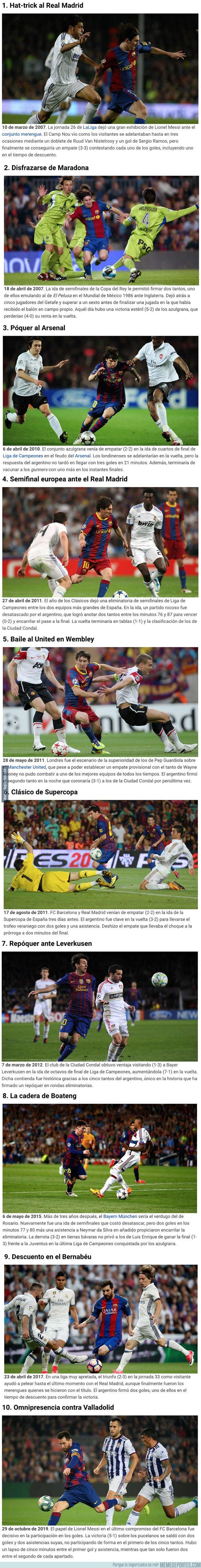 1089738 - Los 10 momentos más gloriosos de Messi con la camiseta del Barça