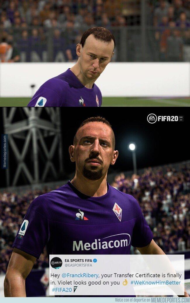 1089792 - EA Sports arregló el rostro de Ribéry en un nuevo update. Ahora sí que sí.