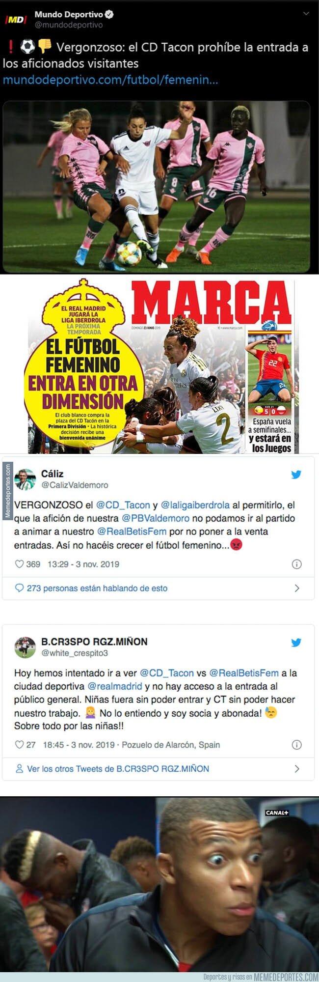 1090075 - Escándalo total: esto es lo que está haciendo el Real Madrid femenino con sus aficionados que quieren ver los partidos en Valdebebas