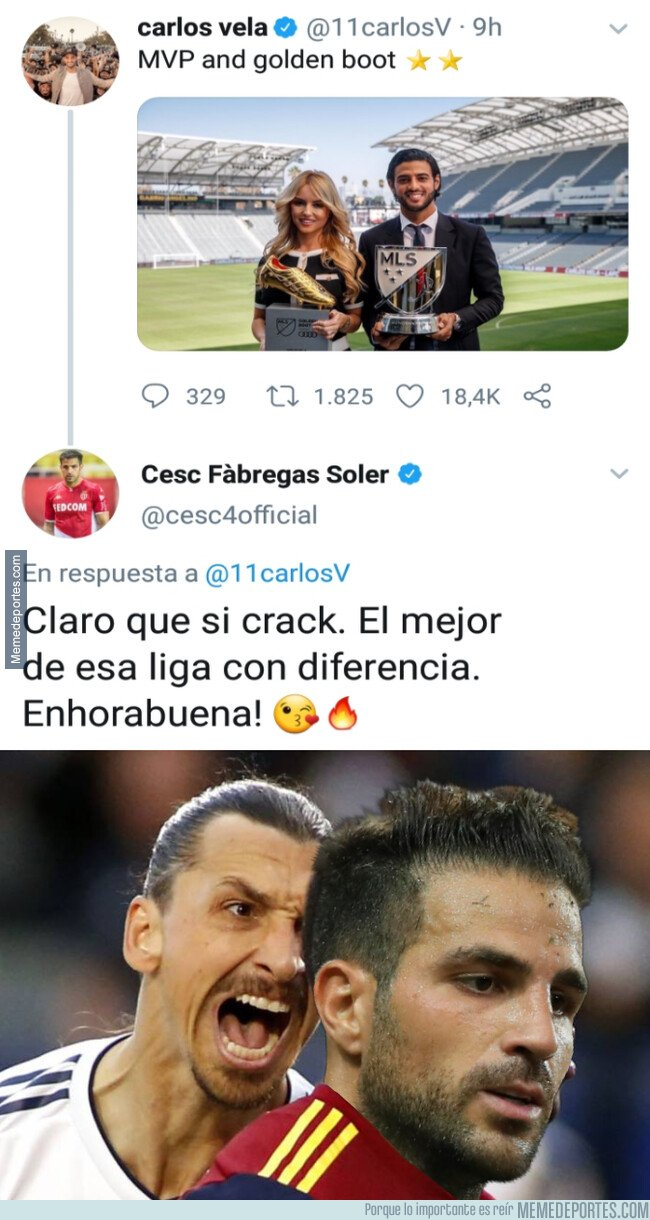 1090114 - Zlatan no estará muy de acuerdo con el tweet de Cesc Fábregas