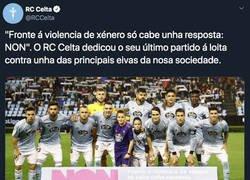 Enlace a Un usuario reprocha al Celta que apoye la lucha feminista y el club le responde de forma tajante y se ha ganado el aplauso de todos