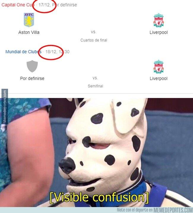 1090138 - El Liverpool jugará 2 partidos distintos en 2 días y en 2 continentes diferentes.