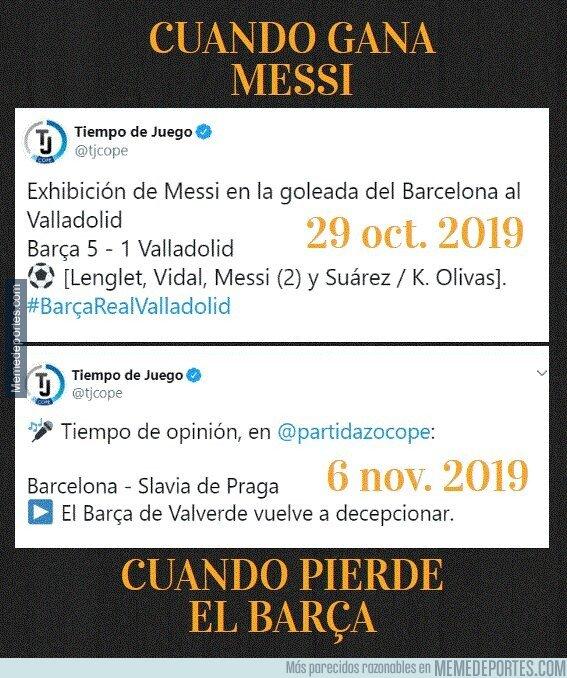 1090220 - Los titulares cuando gana Messi, cuando pierde el Barça en la COPE