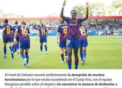 Enlace a El tremendo mensaje de Asisat Oshoala durante el partido de Champions para Valverde que ha tenido que borrar