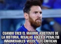 Enlace a Que injusta es la gente con Messi