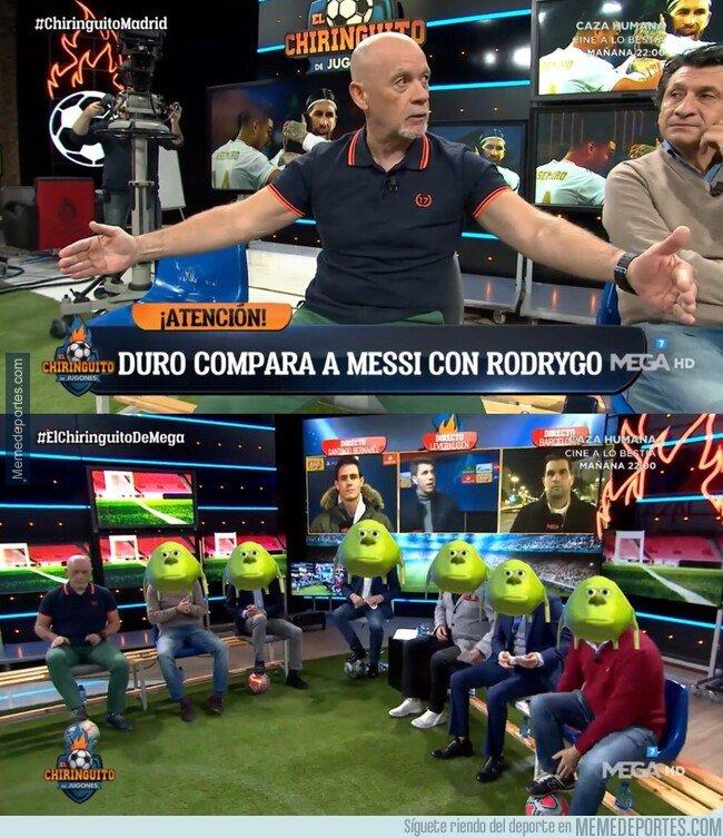 1090331 - Duro compara a Rodrygo con Messi