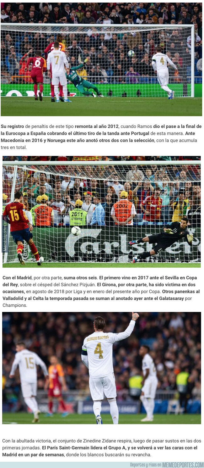 1090381 - Las estadísticas de Sergio Ramos con los penaltis 'a lo Panenka' con la que todo el mundo está alucinando