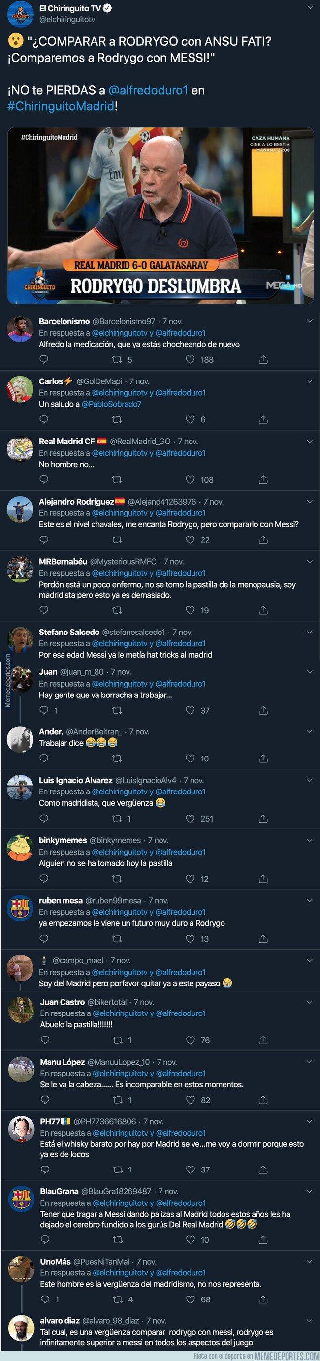 1090488 - Alfredo Duro ha comprado a Rodrygo con este jugador del Barça y hasta los madridistas se están riendo de él con estas respuestas