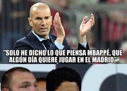 Enlace a Zidane sigue coqueteando con Mbappé