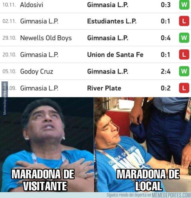 1090711 - El equipo de Maradona solo gana de visitante