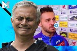 Enlace a Inmenso Bernardo Silva parafraseando a Mourinho en zona mixta. Es que le ha calcado