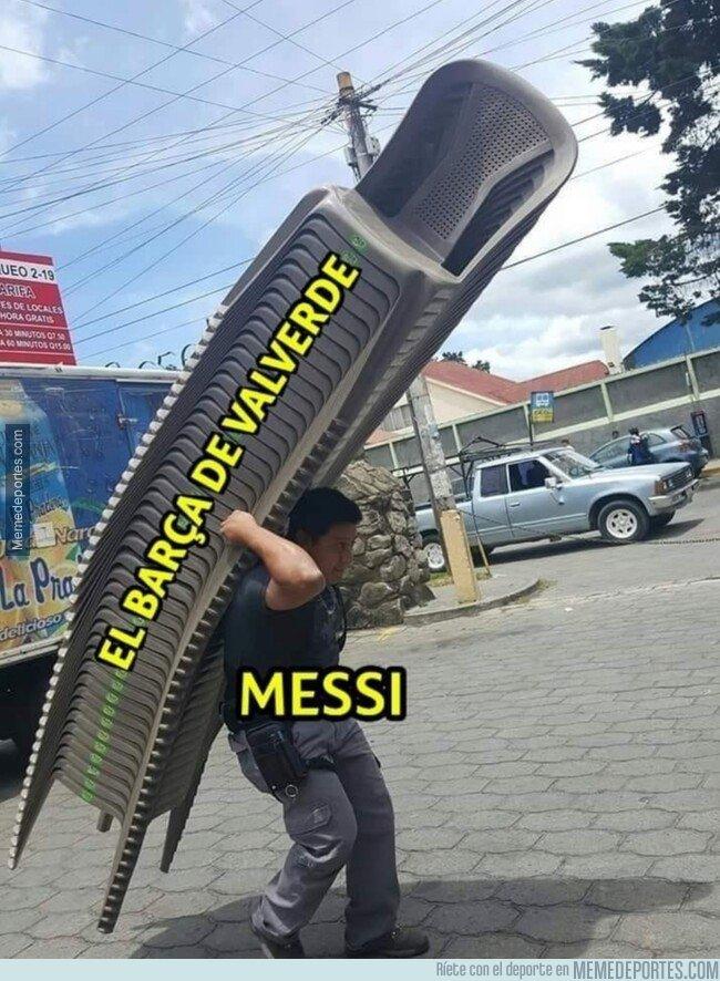 1090792 - Messi carga con todo el peso del equipo