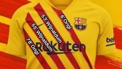 Enlace a Esos '4 zarpazos rojos' de la nueva camiseta del Barça me resultan familiares