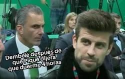 Enlace a Dembélé ahora mismo piensa de Piqué lo mismo que un miembro de V0X