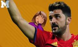 Enlace a Cachondeo absoluto con MARCA por haber incluído este jugador entre las leyendas de España tras la retirada de Villa