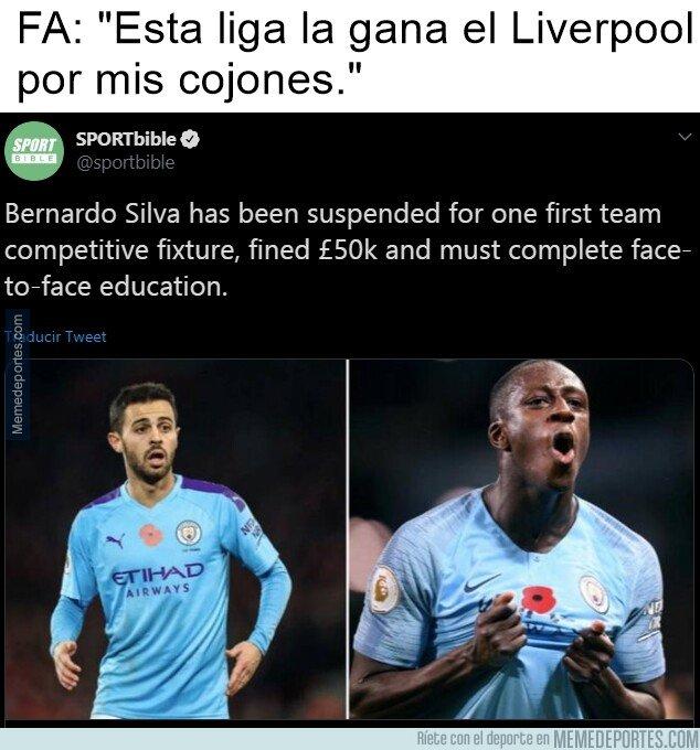 1090991 - Así es, la FA ha sancionado a Bernardo Silva un partido por un cachondeo con Mendy