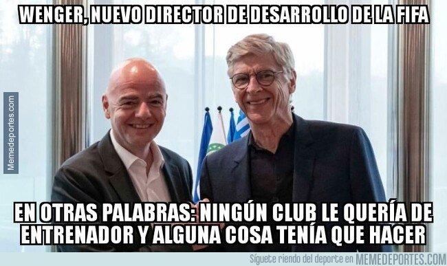 1091049 - Wenger, nuevo director de desarrollo de la FIFA