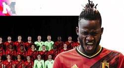 Enlace a La selección de Bélgica sube la foto oficial de la plantilla y Michy Batshuayi no está nada contento por la cara que le han sacado