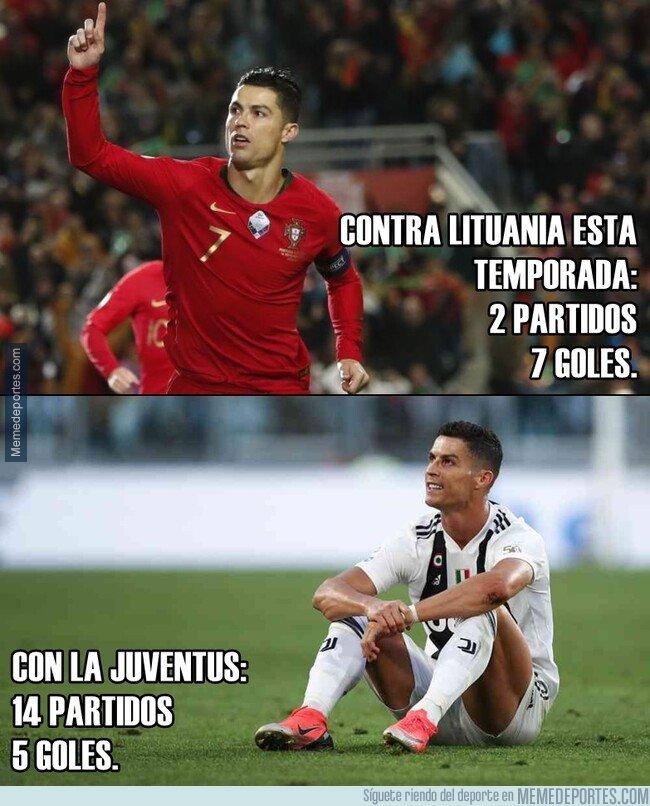 1091126 - El dato que no te va a gustar: Cristiano tiene más goles contra Lituania que TODA la temporada con la Juventus