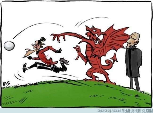 1091138 - La selección galesa sí da bola a Gareth Bale, por @yesnocse