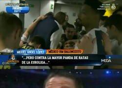 Enlace a Así arengó el médico del Madrid de basket a los jugadores blancos antes de medirse al Barça