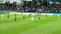 Enlace a Fanáticos de Luxemburgo cantando 'Messi, Messi' a Cristiano. Tentando al diablo...