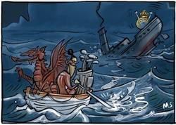 Enlace a El barco al que sí se sube Bale, por @yesnocse