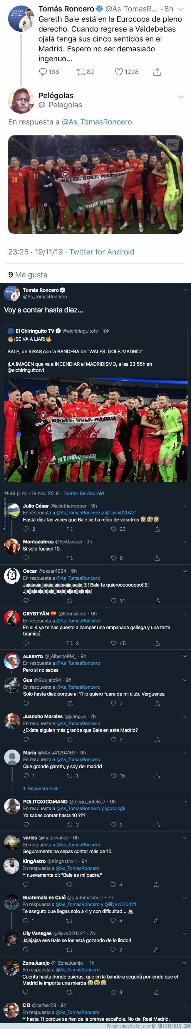 1091580 - Tomás Roncero se lleva el palo más duro con Gareth Bale tras decir esto hace unos días