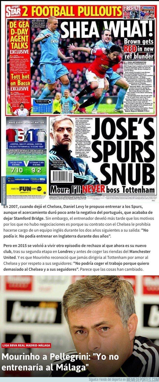 1091594 - La frase que Mourinho dijo sobre el Tottenham en el pasado que ahora todo el mundo le está recordando