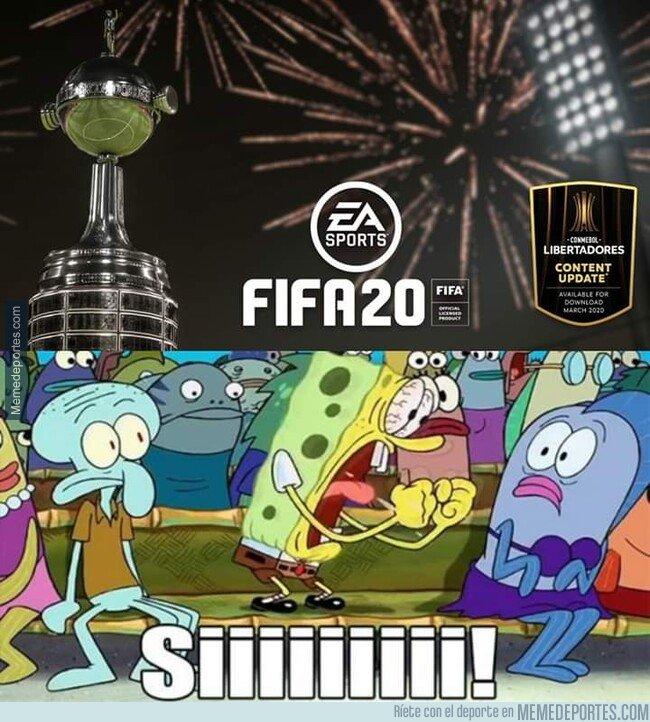 1091677 - Cuando te enteras que la Libertadores llega al FIFA 20