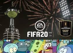Enlace a Cuando te enteras que la Libertadores llega al FIFA 20