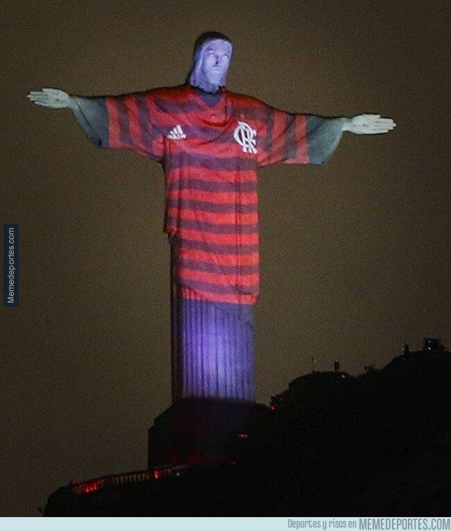1091807 - Así lució el Cristo del Corcovado para animar a Flamengo en la final de la Libertadores