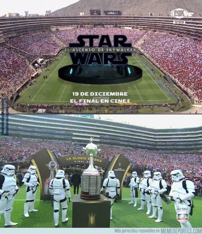 1091924 - La conmebol permitió una promoción de la nueva de Star Wars en la final. Sólo en Sudamerica