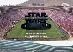 Enlace a La conmebol permitió una promoción de la nueva de Star Wars en la final. Sólo en Sudamerica