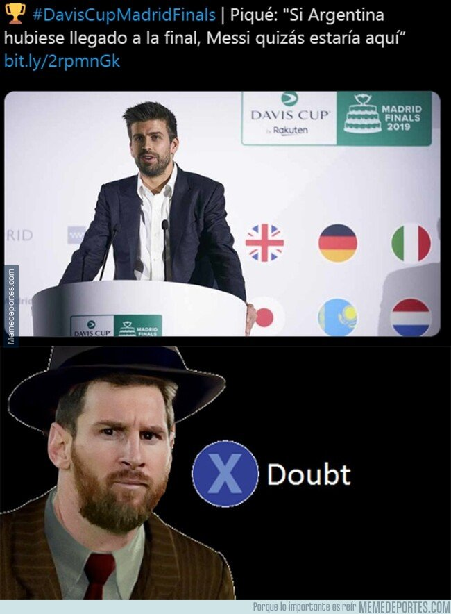 1091933 - No he visto a Messi en un partido de tenis en mi vida