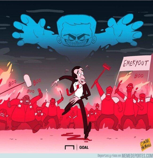 1091947 - Emery está en la cuerda floja con la sombra de la visita de Mourinho, por @goalglobal