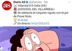 Enlace a ¿Gol del Villarreal, gol del Celta o siguen empate a cero?
