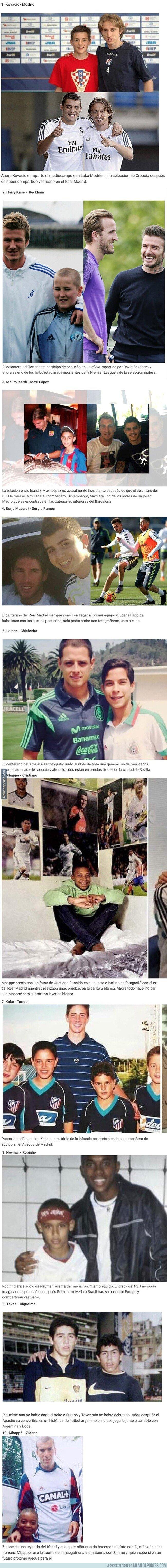 1092003 - 10 jugadores que se fotografiaron con sus ídolos de pequeños y lograron ser estrellas del fútbol