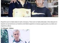 Enlace a 10 jugadores que se fotografiaron con sus ídolos de pequeños y lograron ser estrellas del fútbol